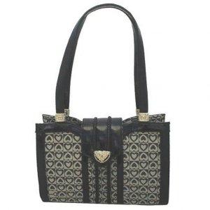 Signature Heart Handbag (Black)