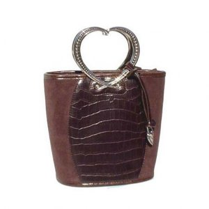 Suede Bucket Tote (Brown)