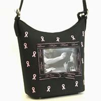 Pink Ribbon Photo Memory  Handbag