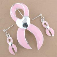 Pink Ribbon Pin Set