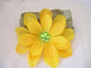 Yellow Flower on Green Band
