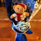 Bule Single Bear Bouquet, Christmas Bouquet, Best Christmas Gift