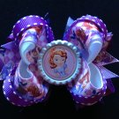 Disney sofia Hair Bow, Aliittle Girl Hair Bow, Stacked Hair Bow