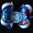 Cute Frozen Hair Bow, Grozen Elsa Hair Bow, Stacked Hair Bow
