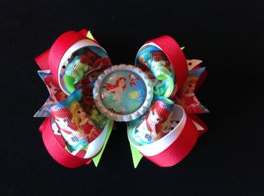 Disney Princess-Ariel Hair Bow, Girls Hair Bow