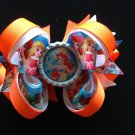 Disney princess-Ariel princess Hair Bow, Stacked hair Bow