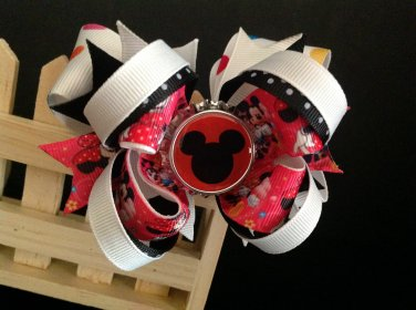 Minnie Mouse Hair Bow-Boutique Stacked Hair Bow