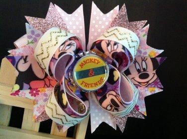Michey Hair Bow, Disney Minnie Mouse Hair Bow