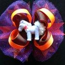 My Little Pony Hair Bow, Purple Glitter Hair Bow, Halloween Hair Bow, Stacked Hair Bow