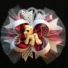 My Little Pony Hair Bow, Glitter Stacked Hair Bow
