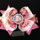 Frozen Queen Hair Bow, Elsa & Anna Hair Bow, Pink Rose Hair Bow