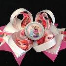 Frozen Queen-Elsa & Anna Hair Bow, Pink Rose Hair Bow