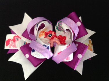My Little Pony Hair Bow, Cute Pony Stacked Hair Bow
