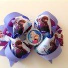 Frozen Queen Hair Bow, Elsa & Anna Hair Bow, Big Purple Stacked Hair Bow.
