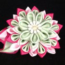Kanzashi Flower Clip, Resin Flower Clip, Ribbon Flower