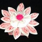 Kanzashi Flower Clip, Resin Flower, Ribbon Flower Clip