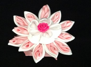 Kanzashi Flower Clip, Resin Flower, Ribbon Flower Clip