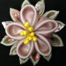 Cute Flower Clip, Kanzashi Flower Clip, Fabric & Organza Flower