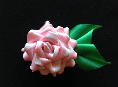 Cute, Rose Flower Clip, Brooch Flower Pin, Tsumami Kanzashi Flower
