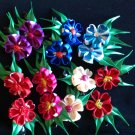 Two Pieces Flower Clips, Cute, Tsumami Kanzashi Flower