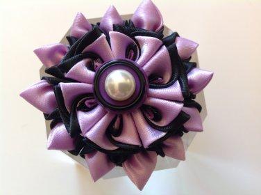 Kanzashi Flower Clip, Tsumami Kanzashi, Ribbon Flower, Elactic Hair Band, Brooch Flower Pin