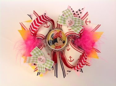 Minnie Mouse Stacked Hair Bow, Disney Hair Bow