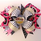 Disney Stacked Hair Bow, Leopard Stacked hair Bow