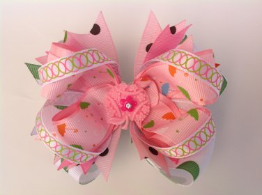 Little Umbrella Stacked Hair Bow