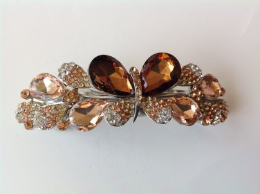 Butterfly Boutique Alloy Rhinestone Crystal Barrette