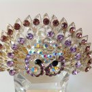 Purple Peacock Boutique Alloy Rhinestone Barrette