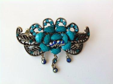Blue Rhinestone Crystal Alloy Tiara