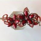 Red Flower Rhinestone Crystal Agate Bead Alloy Tiara