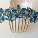 Blue Flower Boutique Alloy Rhinestone Comb