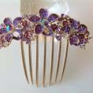 Purple Flower Boutique Alloy Rhinestone Comb