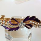 Plum Bow Alloy Rhinestone Crystal Barrette