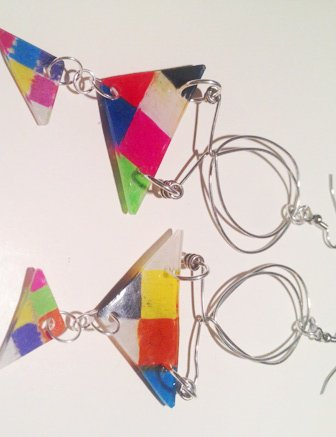 Shrinkable Plastic Earrings : Re-Angle