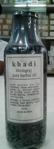 Khadi Bhringraj Pure Herbal Oil with Sandal Oil & Rare Herbs -1 x 210 ML/7fl. Oz