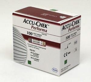 Accu Chek Performa 50x2 Diabetic Test Strips (100 Strips) Expiry06/2017 wit Code
