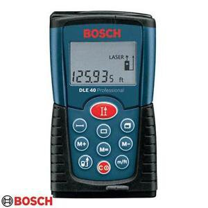 Original & Brand New BOSCH DLE 40 LASER RANGE FINDER 40MTR with Case & Batteries