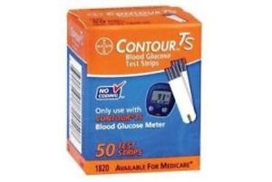 Bayer's Contour TS Sugar Test Strips 50x2 =100 Strips Expiry 07/2017 or later