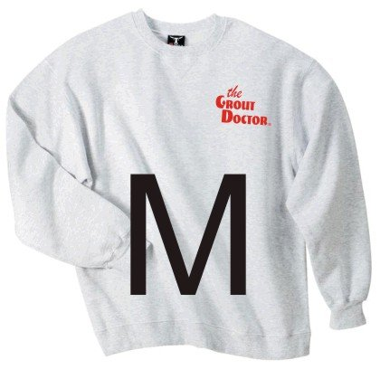 Crew Neck Ash Sweat Shirt Medium
