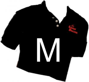 Grout Doctor Sport Shirt Black Size Medium