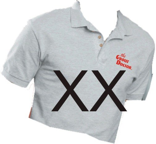 Grout Doctor Sport Shirt Ash Size XX-Large