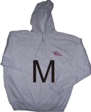 Zippered Hooded Sweatshirt Medium