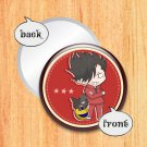 Round hand mirror (Kuroo fan art)