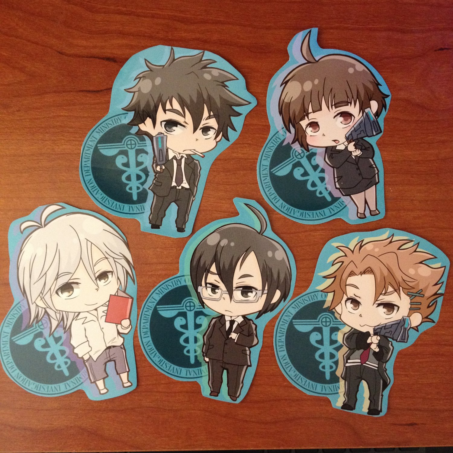 PSYCHOPASS_fanart Sticker set