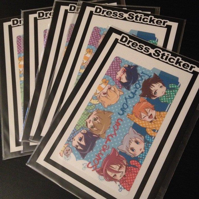 Free Iwatobi swim club fan art_ IC card Sticker