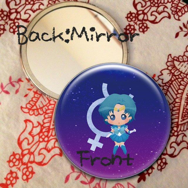 Round hand mirror (Sailor Mercury fan art)