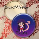 Round hand mirror (Sailor Mars fan art)