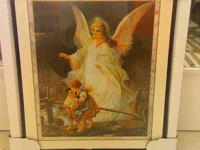Framed Poster of Angel- Glass front